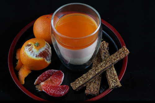 Vanilla Bean And Blood Orange Panna Cotta (naturally Gluten Free ...