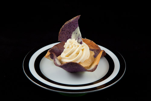 Star Anise infused Maple Mousse in a Blueberry and Lemon Tuile Cup ...