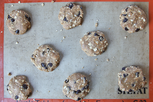 Chunky Chewy Whole Grain Toffee Chocolate Chip Oatmeal Cookies