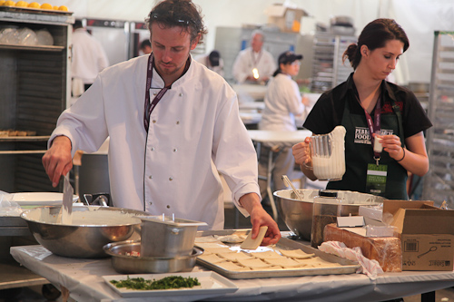 Behind the scenes at the Tasting Pavilion. jpg