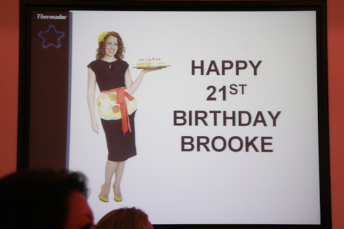 Oh Happy Birthday Brooke!
