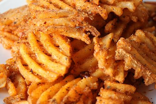 Blackened Cajun Waffle Cut Fries Recipe | Eat the Love
