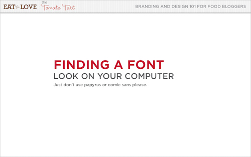 finding a font