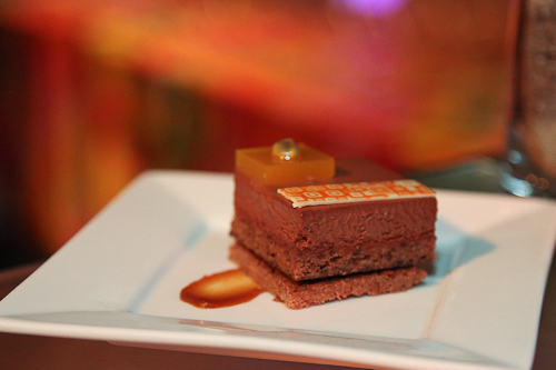 Taste Catering Presents Frank Lloyd Wright: milk chocolate hazelnut passion fruit. jpg