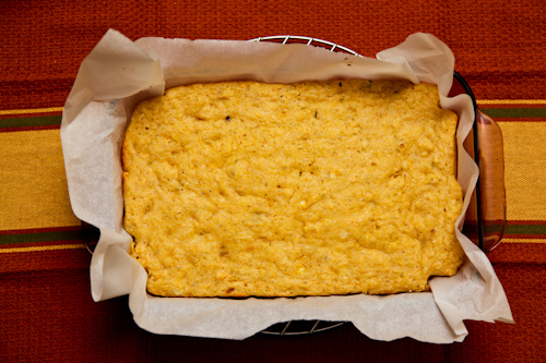Tropical cornbread with pineapple