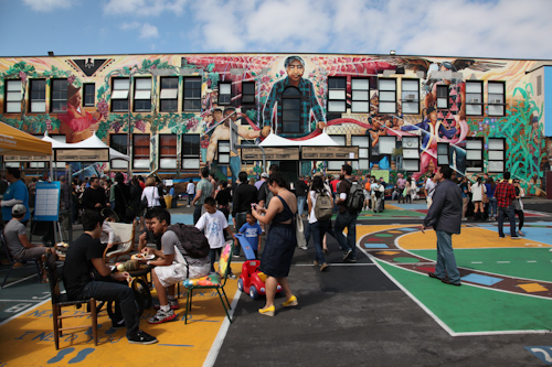The SF Street Food Fair also took over the playground of the Cesar Chavez School. jpg