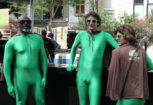 Three Twins Ice Cream decided to wear their outfit for Folsom Street Fair early. jpg