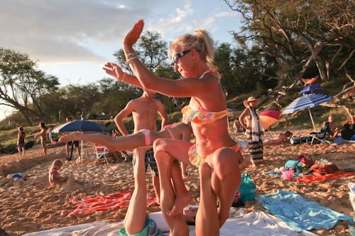 Beach Yoga Pictures Yoga on Little Beach Jpg