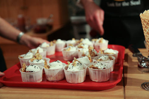 Pastry Chef Tim Nugent's sundae with whipped creme fraiche and smoked sea salt jpg