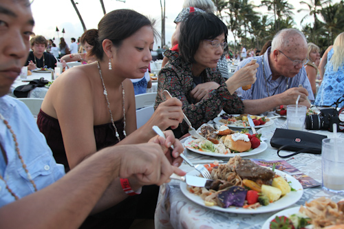 The food was plentiful at the luau. jpg