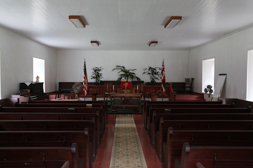 The interior of the church doesn't look like it has changed since the 50s. jpg