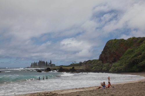 A gorgeous beach, nearly deserted just past Hana. jpg