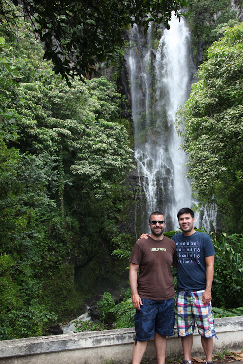 The requisite waterfall picture of AJ and I. jpg