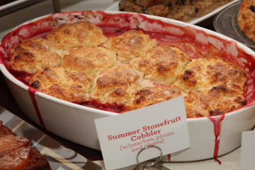 Late Summer Stone Fruit Cobbler, with Plums, Pluots and Peaches