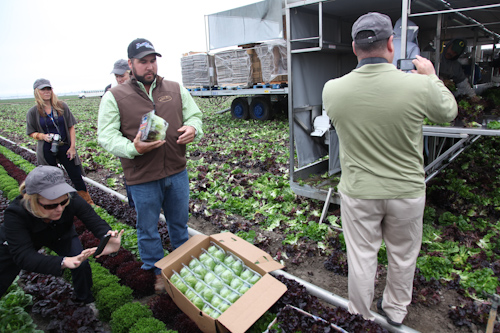 Farmer Brian showing us how the lettuce is packaged at Tanimura & Antle Farms. jpg