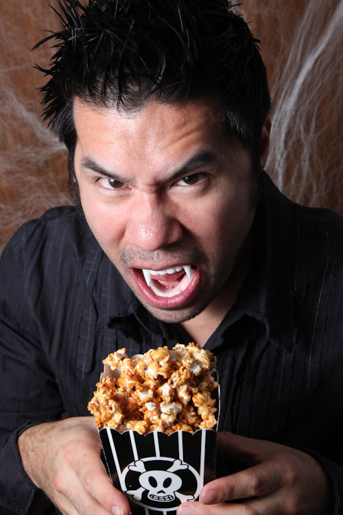 Though you're more likely to attack the popcorn than the other way round!