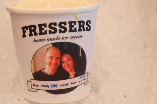 How adorable is this homemade coffee ice cream label?