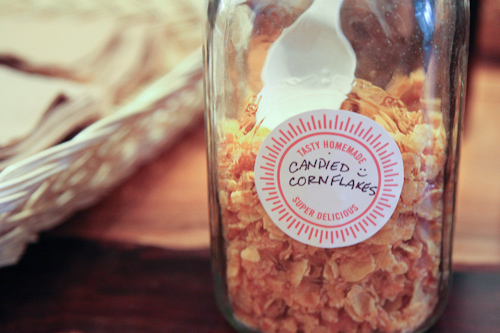 Homemade candied cornflakes. I want to make these at home!