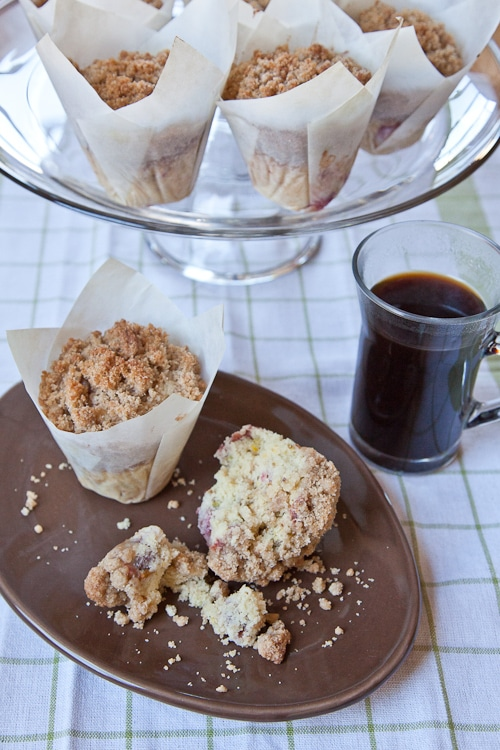 Cherry Pistachio Meyer Lemon Cornmeal Muffins with Streusel Topping ...
