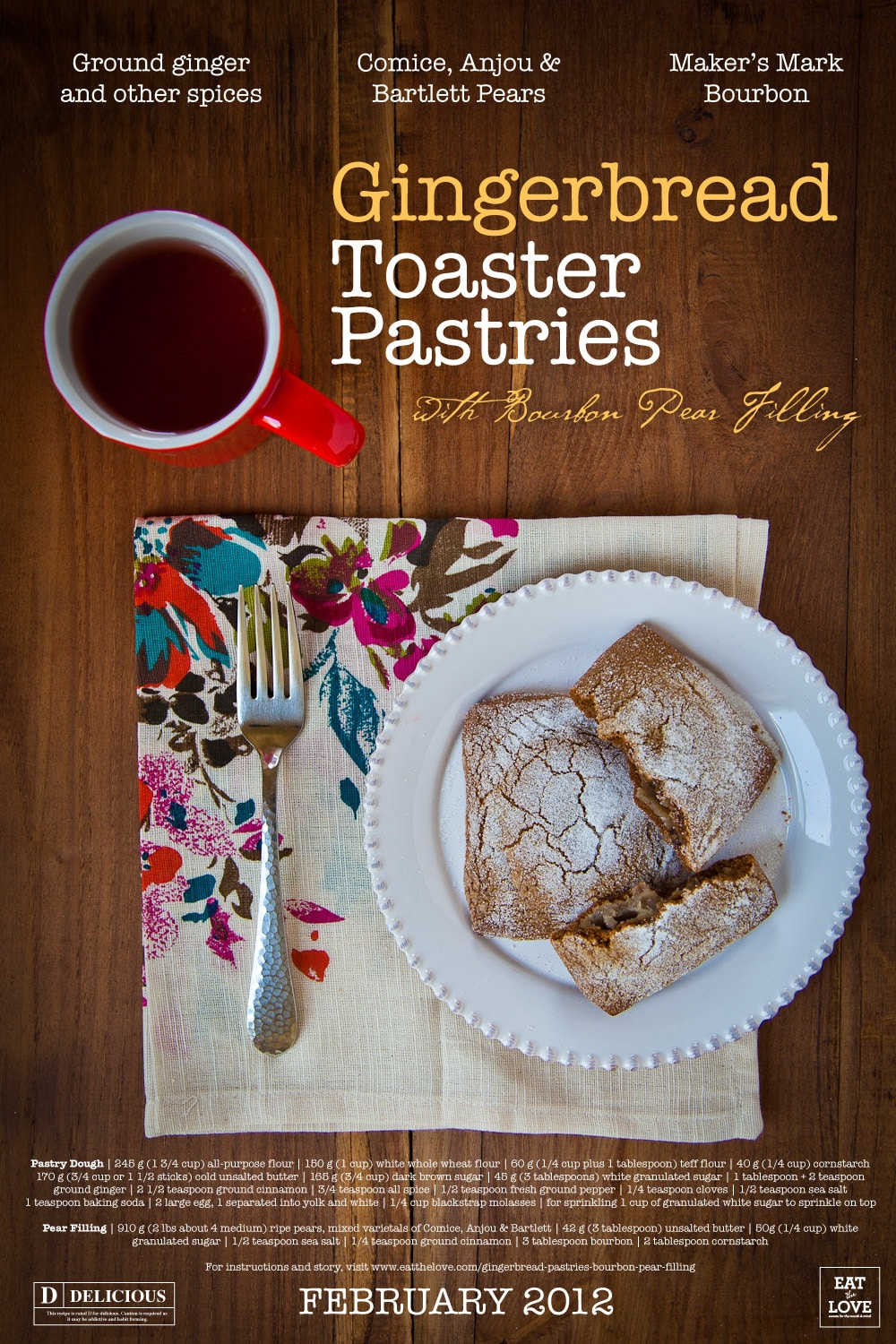 Cooley Zooey: Gingerbread Toaster Pastries with Bourbon Pear Recipe ...