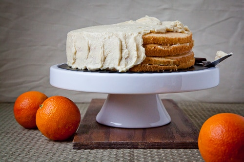 ... Chiffon Cake with Blood Orange Curd and Rich Vanilla Bean Buttercream
