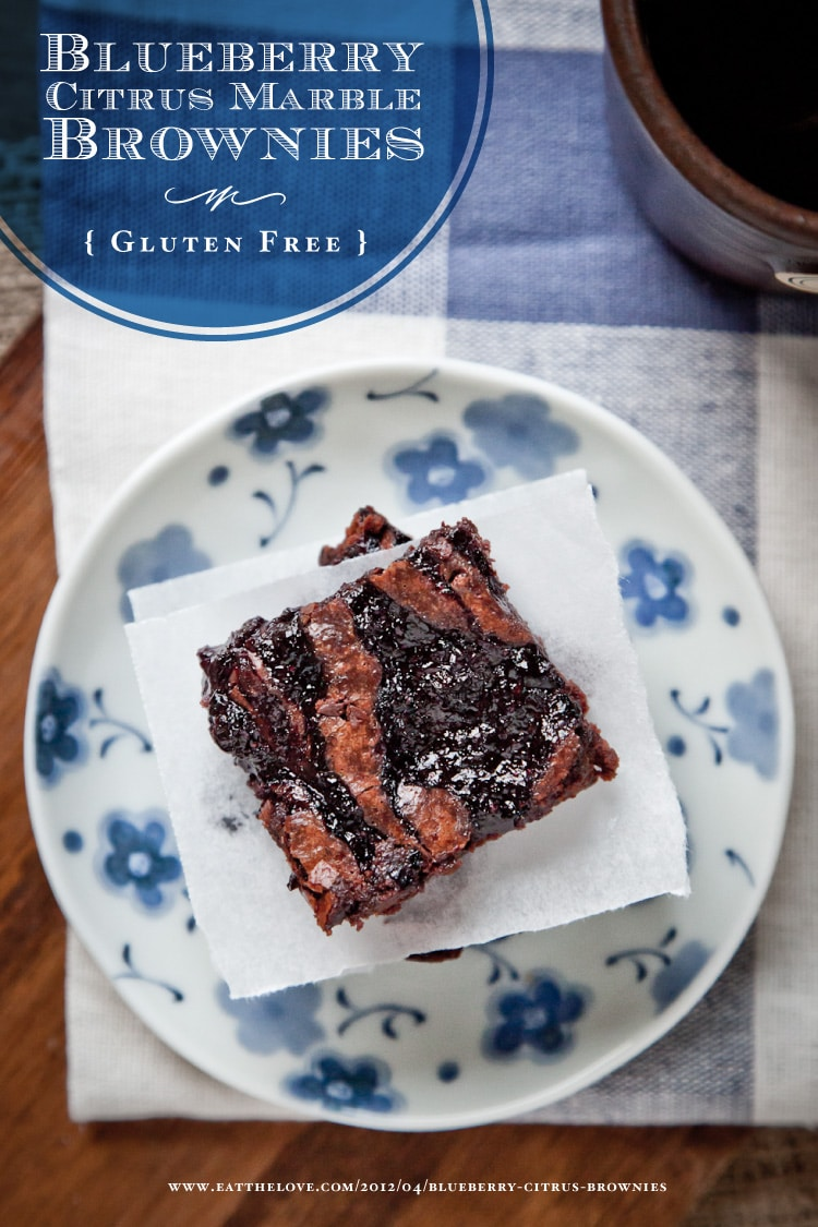 Blueberry Citrus Marble Brownies and a return to the Gluten Free Ratio ...