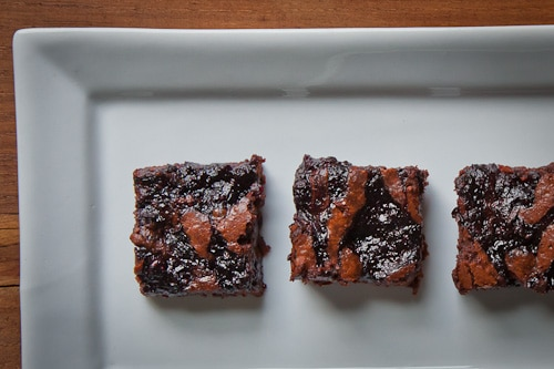 Blueberry Citrus Marble Brownies (gluten free)