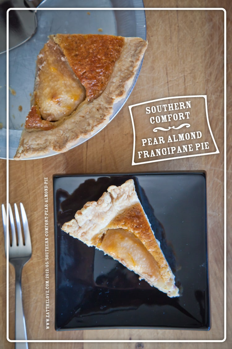 Southern Comfort Pear Almond Frangipane Pie Recipe | Eat the Love