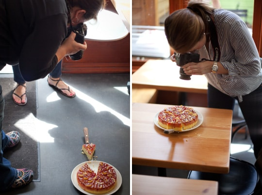 Sweet Cherry Rhubarb Semolina Cake with Candied Clementines & a Photo ...