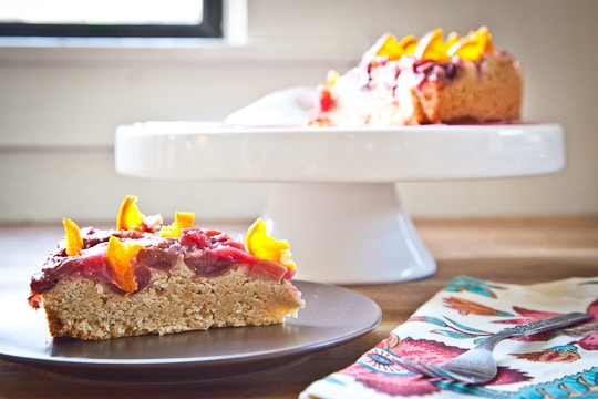 Sweet Cherry Rhubarb Semolina Cake With Candied Clementines From Eat ...