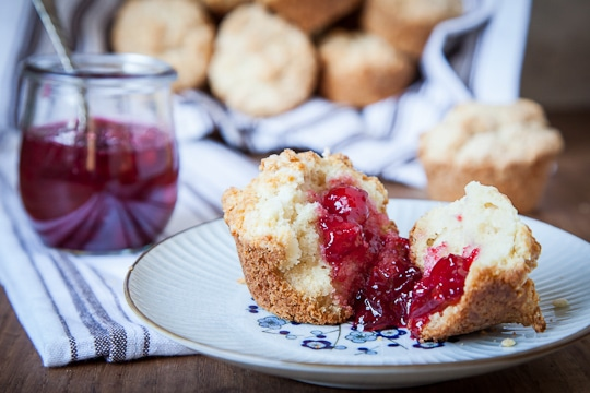 Buttermilk Biscuit Muffins with Ginger Plum Jam