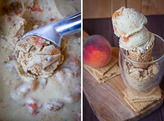 Peach Ice Cream Recipe | Peach Ice Cream | Eat the Love