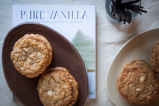 Salted Vanilla Bean White Chocolate Multigrain Cookie by Irvin Lin of Eat the Love