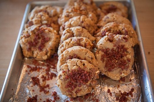 Fakin' Bacon compost cookie at the 18 Reason's DIY Dessert Holiday Cookie Swap. Photo by Irvin Lin of Eat the Love, www.eatthelove.com
