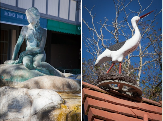 The Little Mermaid statue in Solvang, California, a Danish town in Southern California. Photo by Irvin Lin of Eat the Love. www.eatthelove.com