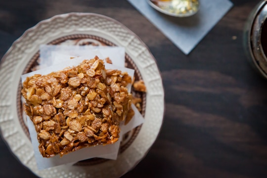 Candied Ginger Almond British Flapjacks by Irvin Lin of Eat the Love. www.eatthelove.com