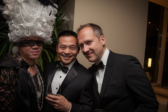Peter's 40th Birthday Black and White Masquerade Ball by Irvin Lin of Eat the Love. www.eatthelove.com