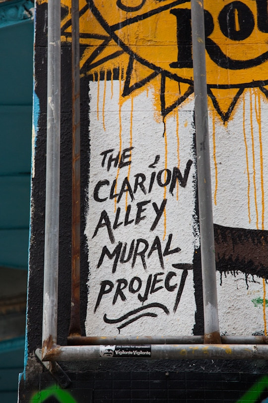 San Francisco Clarion Alley Mural Project. Photo by Irvin Lin of Eat the Love. www.eatthelove.com