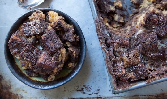 Dark Chocolate Sweet Potato Bread Pudding for Sweet Potato Day