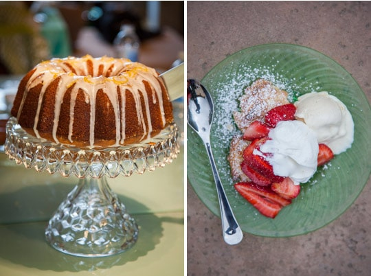 Lemon Bundt Cake and Strawberry Shortcake. Photo by Irvin Lin of Eat the Love. www.eatthelove.com