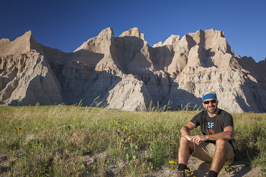 AJ at the Badlands National Park. Photo by Irvin Lin of Eat the Love. | www.eatthelove.com