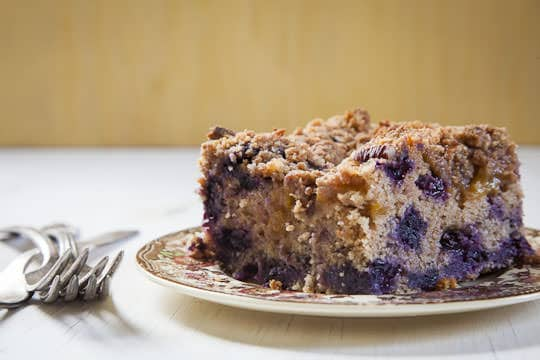 Peach and Blueberry Coffee Cake | Coffee Cake Recipe | Eat the Love