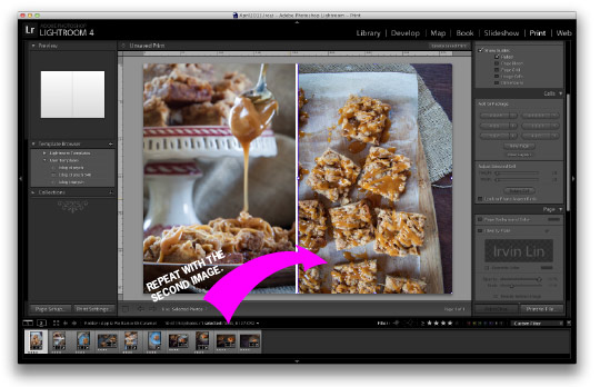 Add the second image to the second box and you have your diptych! Tutorial by Irvin Lin of Eat the Love. www.eatthelove.com