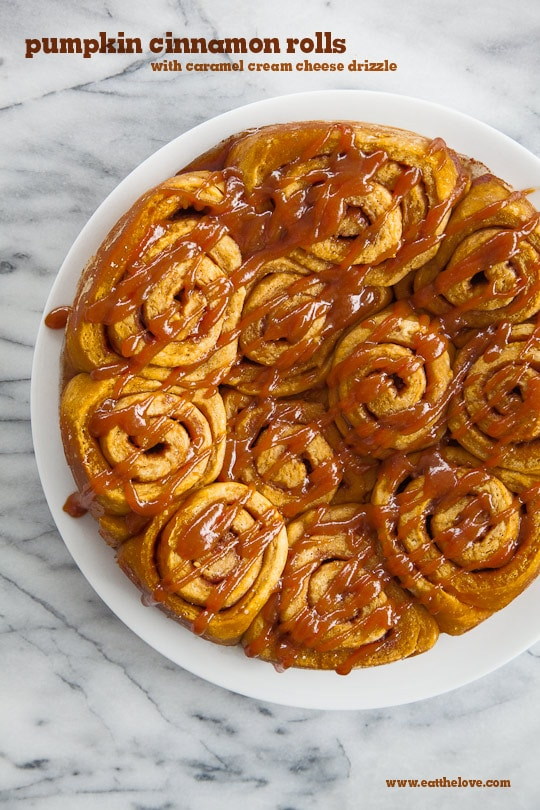 Pumpkin Cinnamon Rolls | Pumpkin Cinnamon Rolls Recipe | Eat the Love