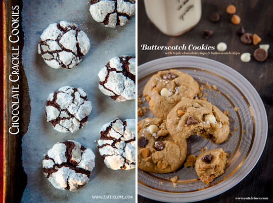 Chocolate Crackle Cookies and Butterscotch Cookies