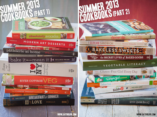 A. LOT. OF. COOKBOOKS.