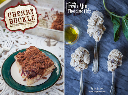 Cherry Buckle and Fresh Mint Ice Cream.
