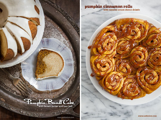 Pumpkin Bundt Cake and Pumpkin Cinnamon Rolls