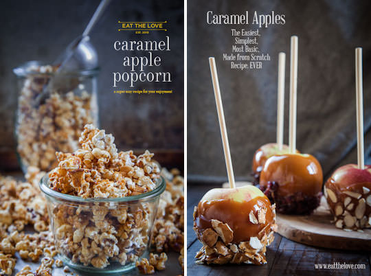 Caramel Apple Popcorn and Caramel Apples