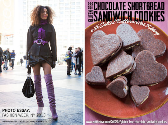 Fashion Week and Gluten Free Chocolate Sandwich Cookies.